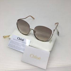 Chloe ce125s Gold Transparent Peach Sunglasses